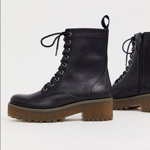ASOS Monki lace up combat boots US 8/EU 39